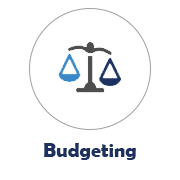 Budgeting Icon with Measuring Scales Image