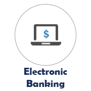 Electronic Banking icon with a laptop image