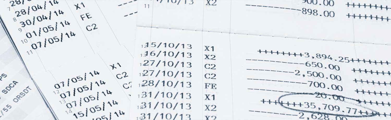 image of payroll sheets with figured numbers