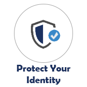 Protect Your Identity icon with shield image