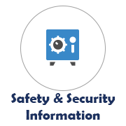 Safety and Security Information Icon with Safe Image