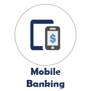 Mobile Banking icon with a tablet and mobile phone image
