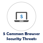 5 Common Browser Security Threats icon with laptop image