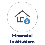 Financial Institutions Icon with a House Image