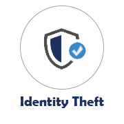 Identity Theft Icon with Shield Image